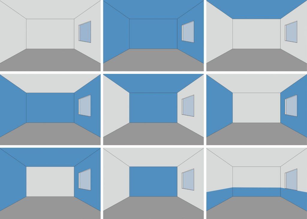 nueve formas de usar el color en interiores.